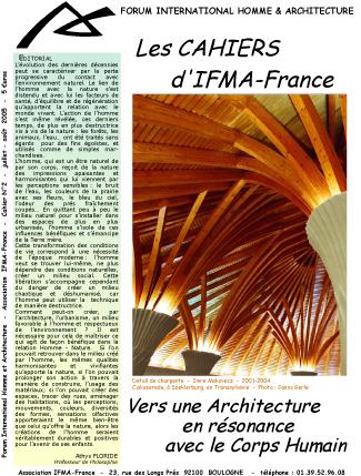Cahier n°2 d'IFMA-France
