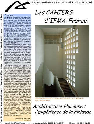 Cahier n°3 IFMA-France