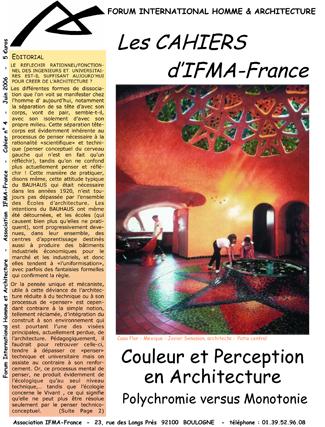 Cahier n°4 de la revue d'IFMA-France