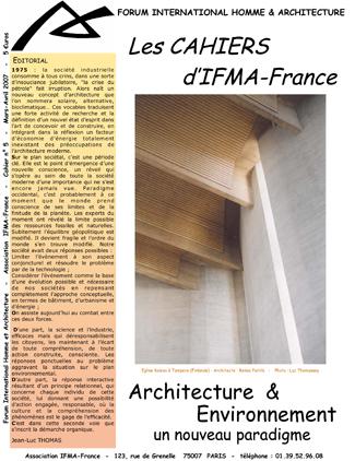 Cahier n°5 de la revue d'IFMA-France