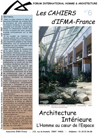Cahier n°6 de la revue d'IFMA-France