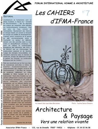 Cahier n°7 de la revue d'IFMA-France