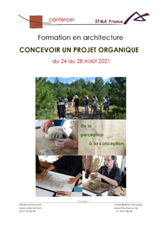 Programme formation architecture organique - été 2021